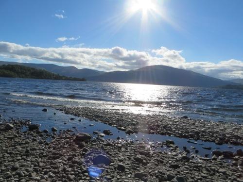 Beautiful sunny first day in Loch Lomond
